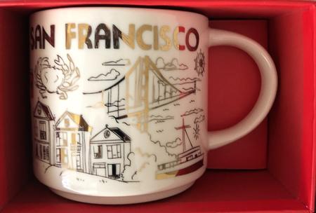 Starbucks City Mug 2018 San Francisco Gold Holiday Been There Series