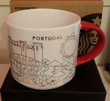 Starbucks City Mug 2018 Portugal Christmas YAH 14 Oz