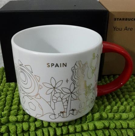 Starbucks City Mug 2018 Spain Christmas YAH 14 oz