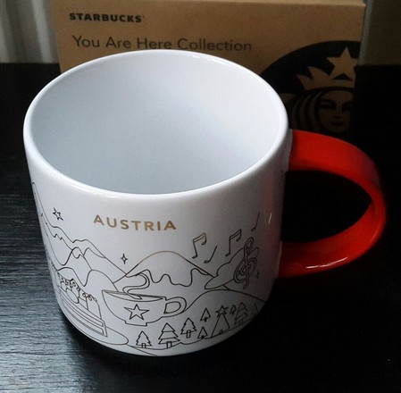 Starbucks City Mug 2018 Austria Christmas YAH 14 oz