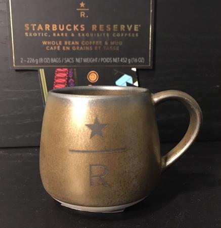 Starbucks City Mug 2018 Gold 3 Oz Reserve Abbey Demitasse