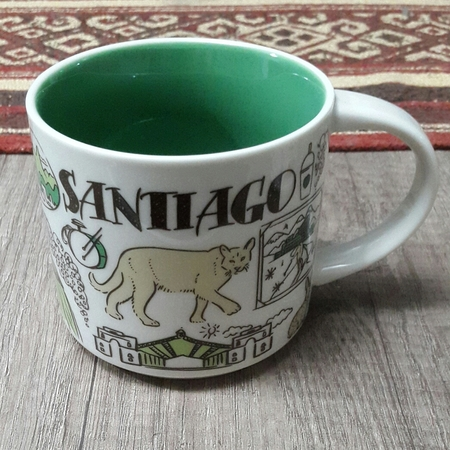 Starbucks City Mug 2018 Santiago Been There Series 14 oz