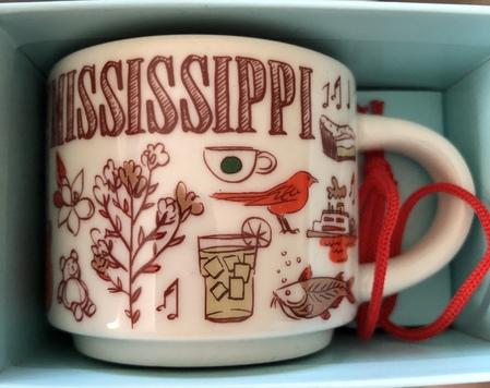 Starbucks City Mug Mississippi BTC ornament