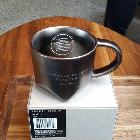 Starbucks City Mug 2018 NYC Reserve Roastery Bevel Mug 8 oz