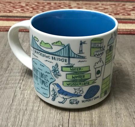 Starbucks City Mug 2019 Been There Michigan v2 14 oz