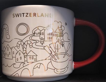 Starbucks City Mug 2018 Switzerland Christmas YAH 14 oz