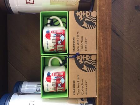 Starbucks City Mug YAH England Ornament