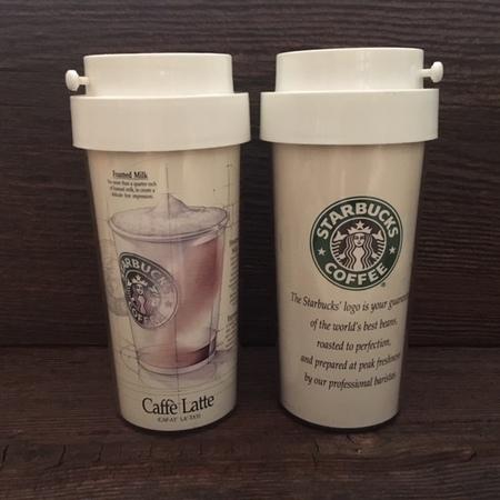 Starbucks City Mug 1992 Caffe Latte Early Ad Campaign Tumbler