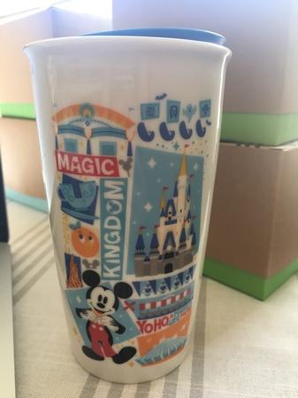 Starbucks City Mug Disney Magic Kingdom Ceramic Tumbler 12oz.
