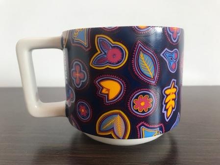 Starbucks City Mug Blue Fall Art mug 12 oz