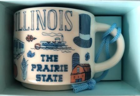 Starbucks City Mug Illinois BTC ornament