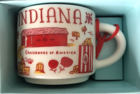 Starbucks City Mug Indiana BTC ornament