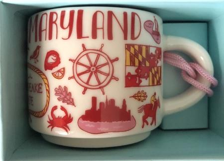Starbucks City Mug Maryland BTC ornament
