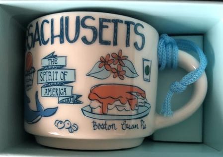 Starbucks City Mug Massachusetts BTC ornament