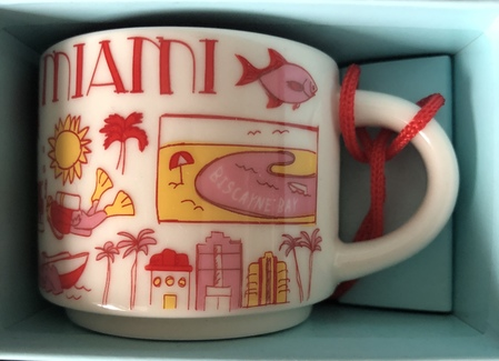 Starbucks City Mug Miami BTC ornament