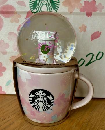 Starbucks City Mug 2020 Sakura Snowglobe/ Demi mug