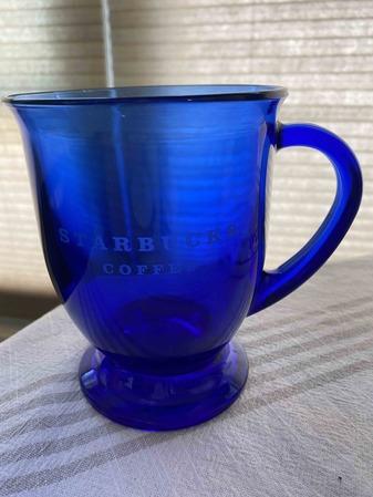 Starbucks City Mug Starbucks Coffee Royal Blue Glass Mug