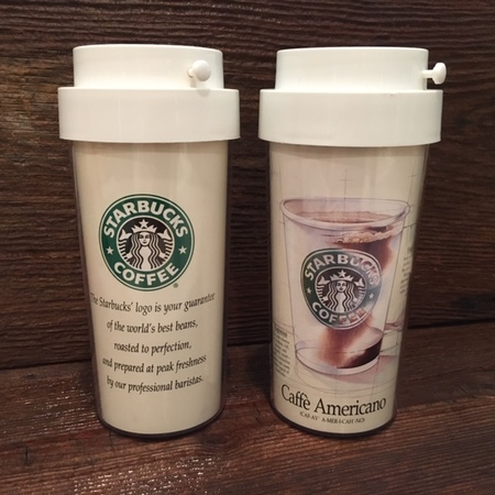 Starbucks City Mug 1992 Caffe Americano Early Ad Campaign Tumbler