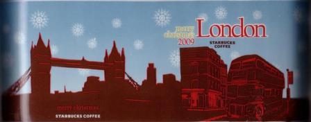 Starbucks City Mug London - merry christmas 2009
