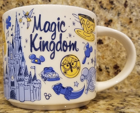 Starbucks City Mug Disney Magic Kingdom Been There Series