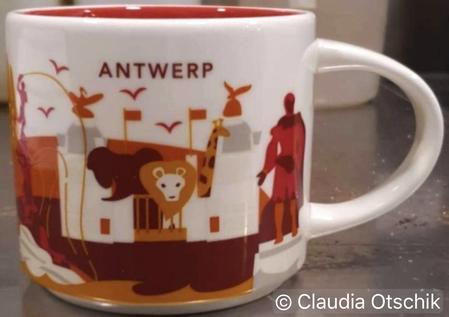 Starbucks City Mug Antwerp You Are Here 14 oz