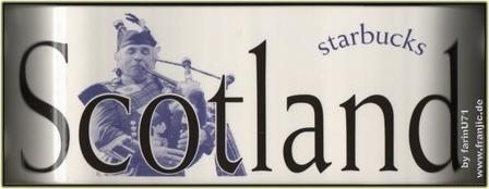 Starbucks City Mug Scotland - made in England 2002