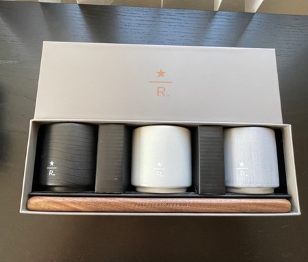 Starbucks City Mug 2019 3 oz. Reserve Roastery Boxed Cup Set: Gray